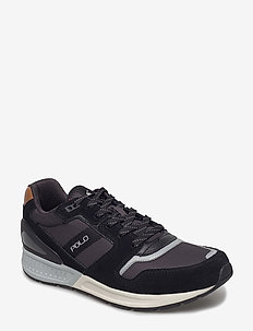 Train 100 Suede-Mesh Sneaker - BLACK/CHARCOAL