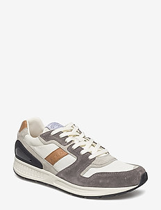 Train 100 Suede-Mesh Sneaker - NEW GRAPHITE