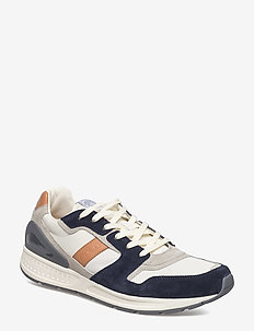 Train 100 Suede-Mesh Sneaker - NEWPORT NAVY