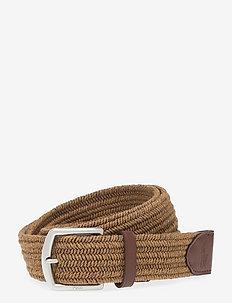 34MM BRAIDED FABRIC STRETCH BLT - braided belts - dark olive