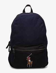 Canvas Big Pony Backpack - NAVY/BLACK