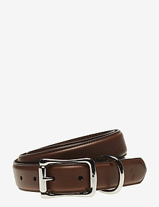 Leather D-Ring Belt - BROWN