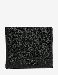 Leather Coin-Pocket Billfold - BLACK