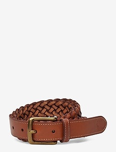 Braided Leather Belt - paski plecione - saddle