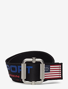 Pull-Through Polo Sport Belt - NAVY MULTI