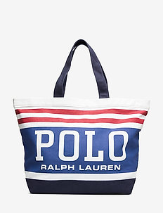 Polo Canvas Large Tote - shoulder bags - white