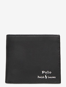 Leather Billfold Wallet - portemonnee - black