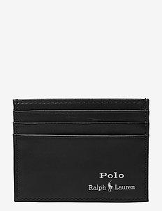 Leather Card Case - titulaire de la carte - black