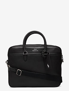 Leather Briefcase Bag - briefcases - black