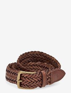 Braided Calfskin Belt - braided belts - polo saddle