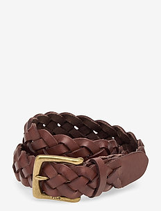 Braided Leather Belt - flettede bælter - polo brown