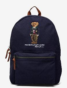 Polo Bear Canvas Backpack - bags - navy