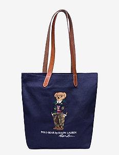 Polo Bear Twill Shopper Tote - navy