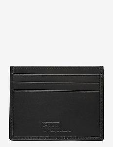 Allover Pony Leather Card Case - cardholder - black