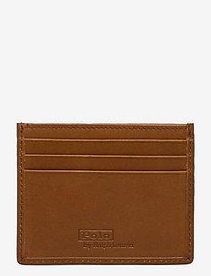 Polo Bear Leather Card Case - korttikotelot - tan