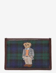 Polo Bear Tartan Card Case - korttikotelot - gordon tartan
