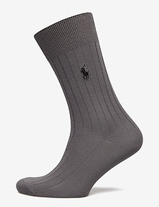 EGYPTIAN RIB-SOCKS-SINGLE - CHARCOAL HEATHER