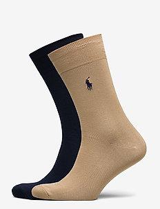 FLAT KNIT-CREW-2 PACK - vanlige sokker - classic camel/cru