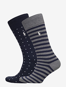 DOT STRIPE-CREW-2 PACK - NAVY