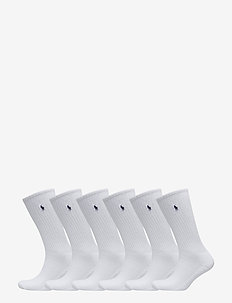 6PK CR PP-CREW-6 PACK - WHITE