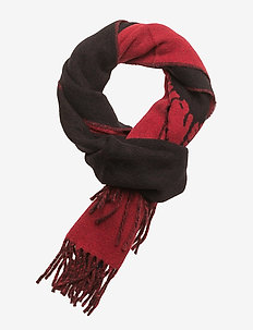 WOOL/NYLON-BPP JACQUARD - BLACK/RED