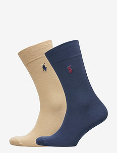 Stretch Cotton Sock 2-Pack - NAVY/COASTAL BEIG