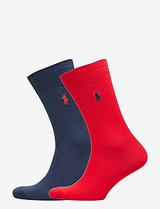 Stretch Cotton Sock 2-Pack - RED/NAVY