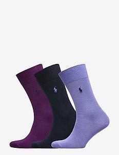 Mercerized Dress Sock 3-Pack - BRAN PURPL/ MAID