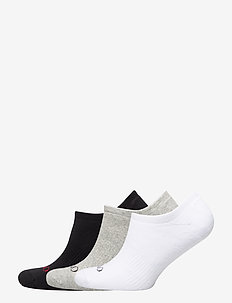 F CUSH LINER-SOCKS-3 PACK - BLACK/ WHITE/ GRE