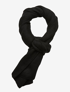 BULLDOG-OBLONG SCARF - BLACK