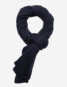 BULLDOG-OBLONG SCARF - NAVY