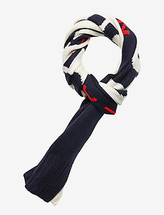POLO SPRT RL-OBLONG SCARF - CREAM/NAVY