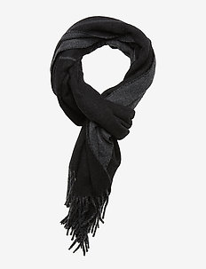 OVRSZED POLO-OBLONG SCARF - BLACK/CHARCOAL
