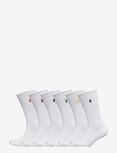 Cotton-Blend Crew Sock 6-Pack - reguläre strümpfe - white colored pp
