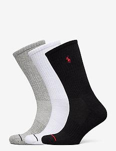 Athletic Crew Sock 3-Pack - chaussettes régulières - black / white / g