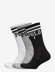 Logo Crew Sock 3-Pack - regular socks - white / grey / bl
