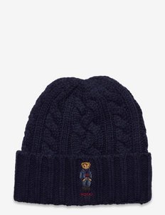Polo Bear Cable-Knit Beanie - pipot - norfolk blue