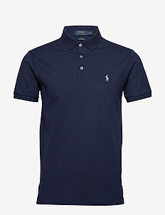 Slim Fit Stretch Mesh Polo - kortärmade pikéer - spring navy heath