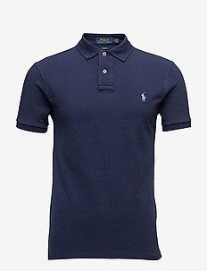 Slim Fit Mesh Polo Shirt - NEWPORT NAVY/BLUE