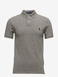 Slim Fit Mesh Polo Shirt - kortermede - canterbury heathe