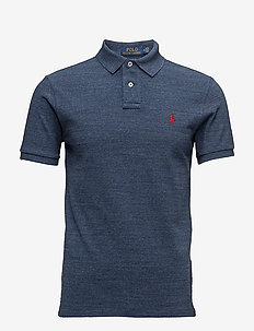 Slim Fit Mesh Polo Shirt - kortermede - classic royal hea