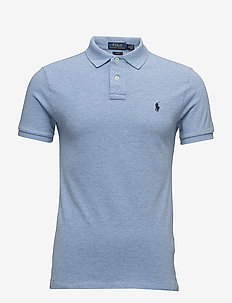 Slim Fit Mesh Polo Shirt - JAMAICA HEATHER