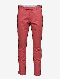 Stretch Slim Fit Cotton Chino - NANTUCKET RED