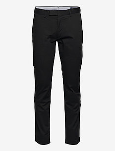 Stretch Slim Fit Cotton Chino - POLO BLACK
