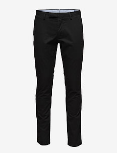 Stretch Tailored Slim Fit Pant - POLO BLACK