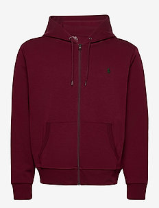 Double-Knit Full-Zip Hoodie - hoodies - classic wine