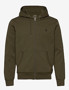Double-Knit Full-Zip Hoodie - hoodies - company olive/c97