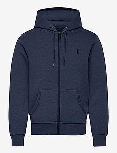 Double-Knit Full-Zip Hoodie - hettegensere - derby blue heathe