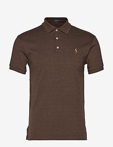 Slim Fit Interlock Polo Shirt - ALPINE BROWN HEAT