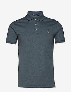 Slim Fit Interlock Polo Shirt - ARTIST BLUE HEATH